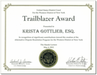 Krista Gottlieb, Trailblazer Award